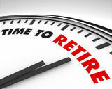 Time to Retire - Clock poster