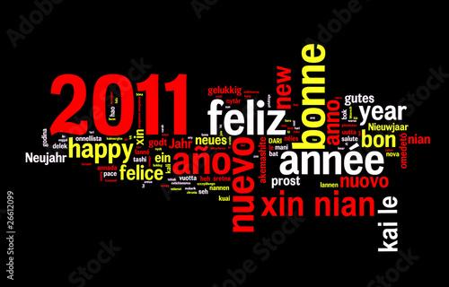 2011 bonne ann e dans toutes les langues photo libre de - Bonne annee dans toutes les langues ...
