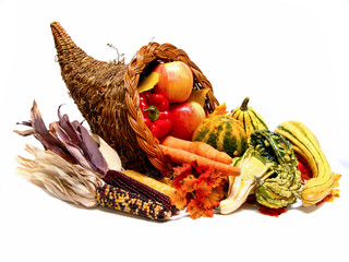 Thanksgiving or harvest cornucopia