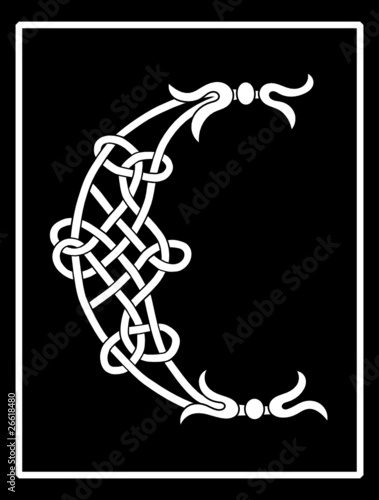 Vector of a Celtic Knot-work Capital Letter C