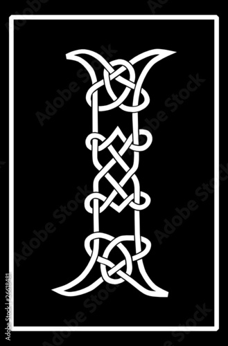 Vector of a Celtic Knot-work Capital Letter I