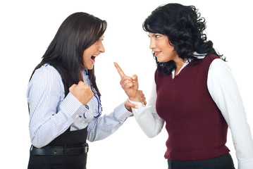 Two women having conflict