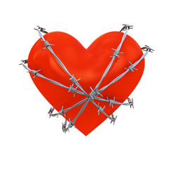 Barbed wire on Heart shape