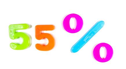 55% written in fridge magnets