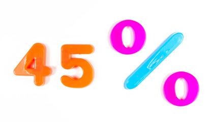 45% written in fridge magnets