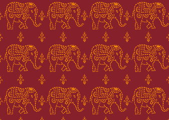 pattern indian elephant