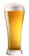 Frosty glass of light beer. File contains a path to cut.