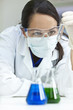 Female Scientist or Woman Doctor With Test Tube In Laboratory