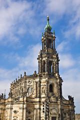Die Hofkirche in Dresden.