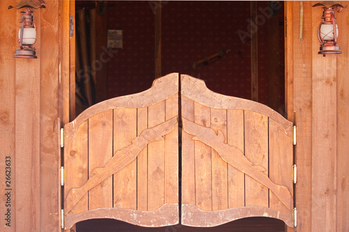 Foto Spatwand Texas Saloon old doors