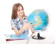 Girl with the globe
