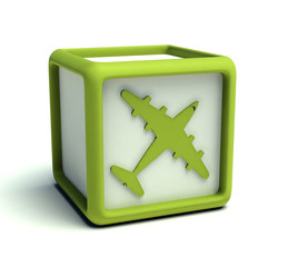 Eco green plane cube