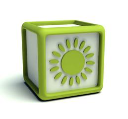 Eco green sun cube