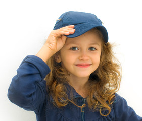 bimba vestita di blu