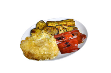 Frico e verdure grigliate