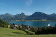 View of St. Wolfgang on Wolfgangsee lake, Austria