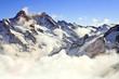Mist at Jungfraujoch, part of Swiss Alpine Alps at Switzerland.