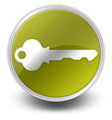 "Yellow Glossy Icon ""Key / Login Symbol"""
