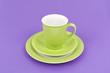 green coffee cup