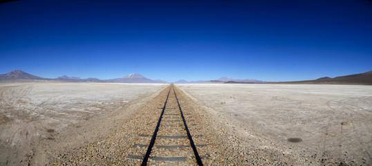 Panoramique du Salar de Uyuni en Bolivie