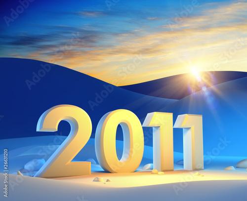 Leinwandbild Motiv new year 2011