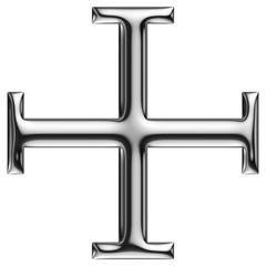 Croix à béquilles de chrome 2