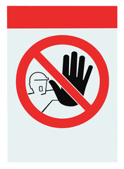No access for unauthorised persons blank warning sign isolated