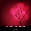 roleta: Card with stylized autumn tree