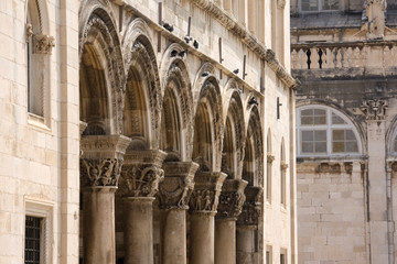 Colonnade of Princely Palace in Dubrovnik