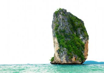 High cliffs on the tropical island