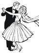 ilustracion con una pareja bailando