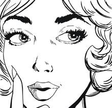 Ilustracja twarz kobiety