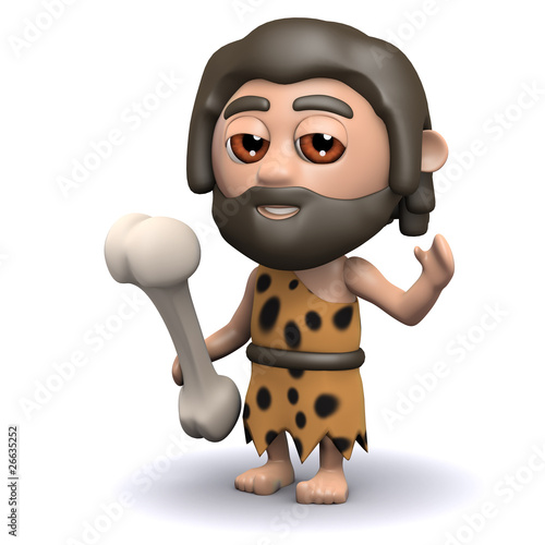 3d Caveman just enjoyed a nice meal