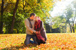 couple autumn love