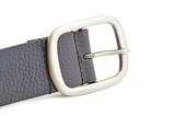 black leather belt isolated