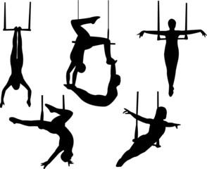 trapeze silhouette vector