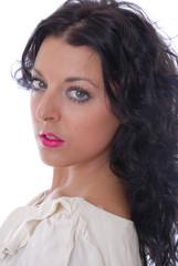 Beautiful dark haired woman portrait