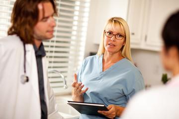 Doctors and Nurses Having Conversation