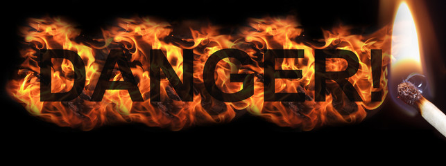 Burning Hot Danger Sign