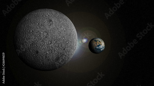 3d animation of the solar system in HD