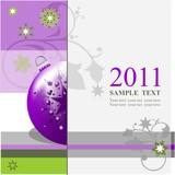 Weihnachten / Jahreswechsel / Modern / Violett /Grün