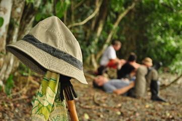 Excursionistas descansando en Parque Nacional