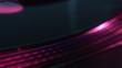 Close up of a disc on a dj's mixer during an event