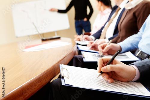 Leinwanddruck Bild Business seminar