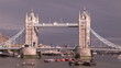 Footage of London bridge during the day