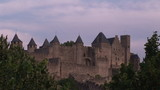View of Carcassonne castle in the south of France