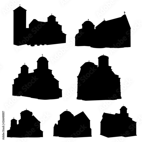 orthodox monasterys vector
