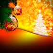 Weihnachtskarte - Weihnachtskugel - Tannenbaum