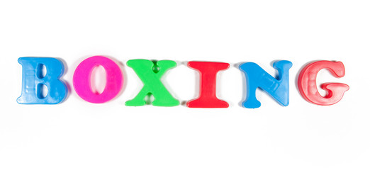 boxing written in fridge magnets