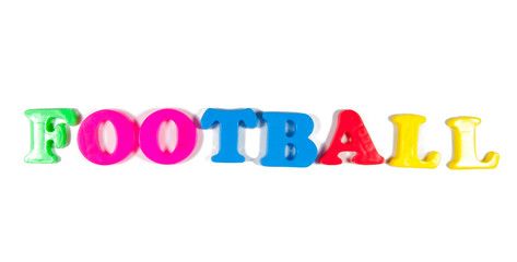 football written in fridge magnets